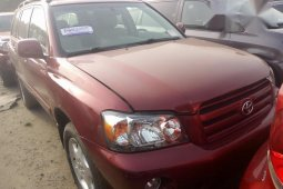 Toyota Highlander 2005 Red for sale