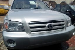 Toyota Highlander V6 2005 Silver for sale
