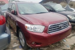 Toyota Highlander 2008 Limited 4x4 Red for sale