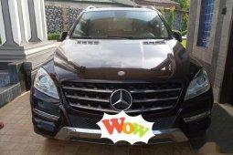Mercedes-Benz ML350 2012 Black  color for sale
