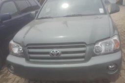 Toyota Highlander 2005 V6 Green for sale