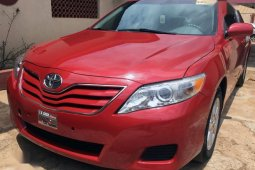 Red 2010 Toyota Camry car at mileage 96,377 at attractive price
