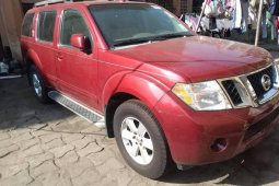 Best priced red 2008 Nissan Pathfinder automatic at mileage 98,523