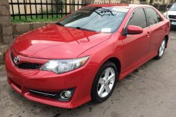 Red 2012 Toyota Camry car sedan automatic in Lagos