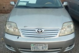 Grey/silver 2004 Toyota Corolla for sale at price ₦650,000