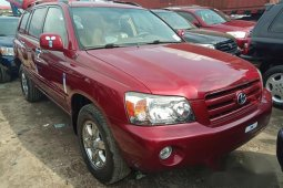 Need to sell cheap used red 2006 Toyota Highlander at mileage 53,216