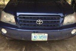 Clean Nigerian Used Toyota Highlander 2004 Blue