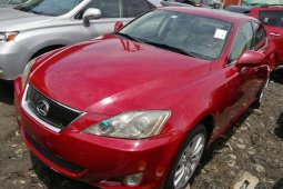 Foreign Used Lexus IS 2008 Model Red