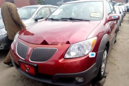 Tokunbo Pontiac Vibe 2007 Model Red