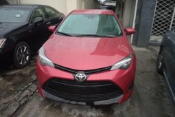Tokunbo Toyota Corolla 2017 Model Red