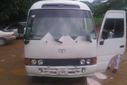 Nigeria Used Toyota Coaster 2007 Model White