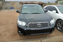Tokunbo Toyota Highlander 2008 Model Black