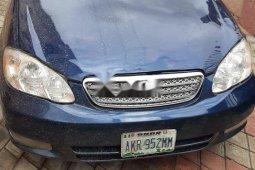 Nigeria Used Toyota Corolla 2004 Model Blue