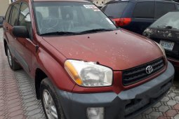 Foreign Used Toyota RAV4 2003 Model Red
