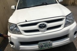 Nigeria Used Toyota Hilux 2009 Model White