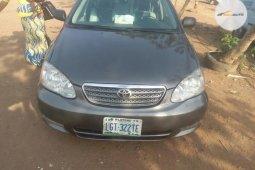 Neat Nigerian used Toyota Corolla 2005 Gray