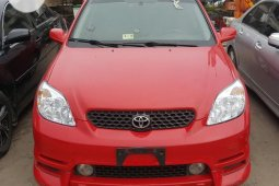 Foreign Used Toyota Matrix 2003 Model Red