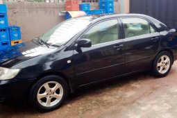 Nigeria Used Toyota Corolla 2006 Model Black