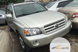 Tokunbo Toyota Highlander 2003 Model Brown