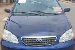 Foreign Used Toyota Corolla LE 2007 Model Blue