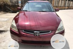 Foreign Used Honda Accord 2005 Model Red