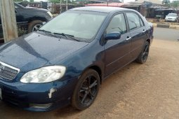 Nigeria Used Toyota Corolla 2003 Model Blue