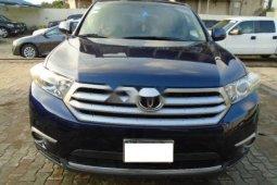 Nigeria Used Toyota Highlander 2012 Model Blue