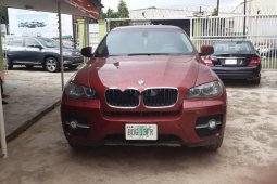 Nigeria Used BMW X6 2011 Model Red