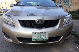 Nigeria Used Toyota Corolla 2009 Model Gold