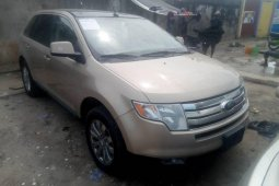 Foreign Used Ford Edge 2007 Model Beige