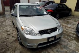 Foreign Used Toyota Matrix 2003 Model Silver