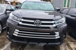 Foreign Used Toyota Highlander 2014 Model Gray