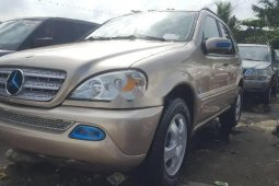 Foreign Used Mercedes-Benz ML 320 2003 Model Gold