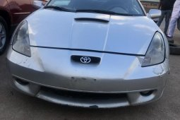 Foreign Used Toyota Celica 2002 Model Silver