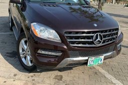 Nigeria Used Mercedes-Benz ML350 2013 Model Brown