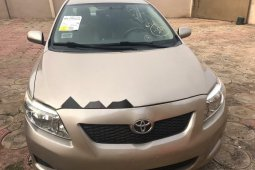 Foreign Used Toyota Corolla 2009 Model Gold