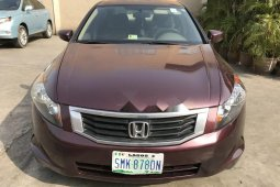 Nigeria Used Honda Accord 2008 Model Gold