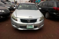 Nigeria Used Honda Accord 2008 Model Silver