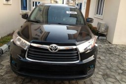 Foreign Used Toyota Highlander 2014 Model Black