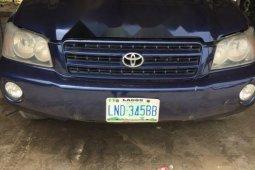 Nigeria Used Toyota Highlander 2004 Model Blue