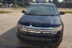 Foreign Used Ford Edge 2010 Model Black