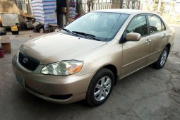Nigeria Used Toyota Corolla 2006 Model Gold