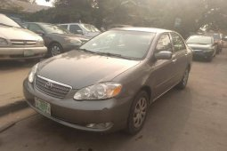 Nigeria Used Toyota Corolla 2006 Model Gray