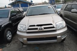 Foreign Used Toyota 4-Runner 2005 Model Gold