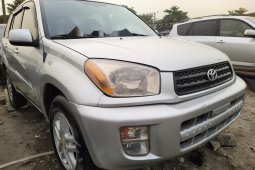 Foreign Used Toyota RAV4 2003 Model Silver