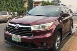 Nigeria Used Toyota Highlander 2014 Model Red