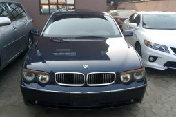 Foreign Used BMW 7 Series 2002 Model Gray