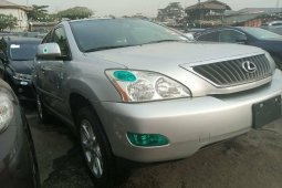 Tokunbo Lexus RX 2009 Model  Automatic Grey/Silver