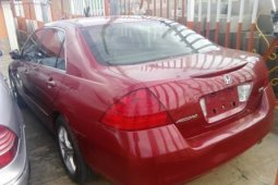 Foreign Used Honda Accord 2007 Model Red