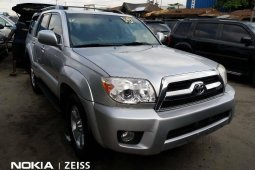 Foreign Used 2008 Silver Toyota 4-Runner for sale in Lagos.